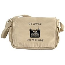 Go Away - I'm Writing Messenger Bag