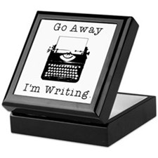 Go Away - I'm Writing Keepsake Box