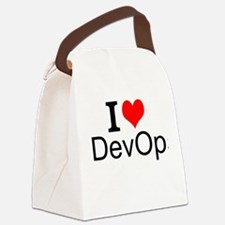 I Love DevOps Canvas Lunch Bag