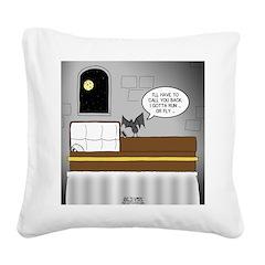 Bat Phone Square Canvas Pillow