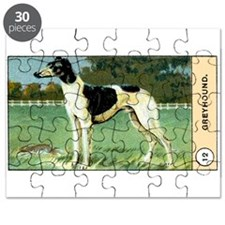 Antique 1908 Greyhound Dog Cigarette Card Puzzle