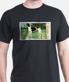 Antique 1908 Greyhound Dog Cigarette Card T-Shirt