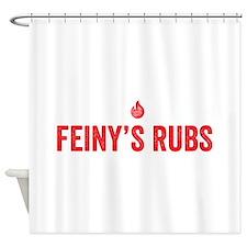 feinys rub red Shower Curtain