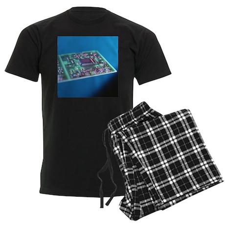 Circuit board - Men's Dark Pajamas