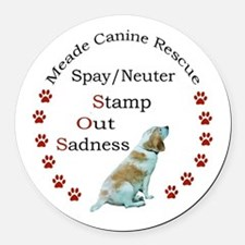 Cute Canine Round Car Magnet