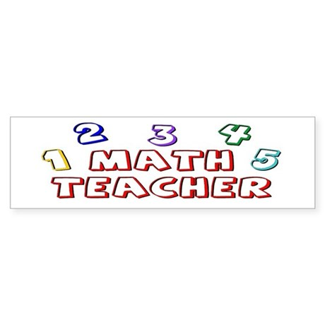 Math Teacher Kids Bumper Sticker