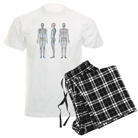 Male skeleton, artwork - Men's Light Pajamas