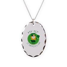 My 1st St. Patrick's Day Necklace Oval Charm
