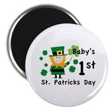 """Baby's 1st St. Patrick's Day 2.25"""" Magnet (10 pack"""