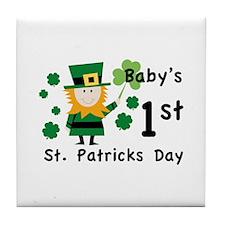 Baby's 1st St. Patrick's Day Tile Coaster