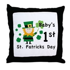 Baby's 1st St. Patrick's Day Throw Pillow