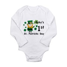 Baby's 1st St. Patrick's Day Long Sleeve Infant Bo