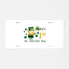 Baby's 1st St. Patrick's Day Aluminum License Plat