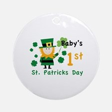 Baby's 1st St. Patrick's Day Ornament (Round)