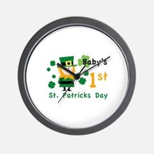 Baby's 1st St. Patrick's Day Wall Clock