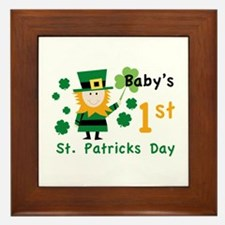 Baby's 1st St. Patrick's Day Framed Tile