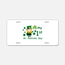 My 1st St. Patrick's Day Aluminum License Plate
