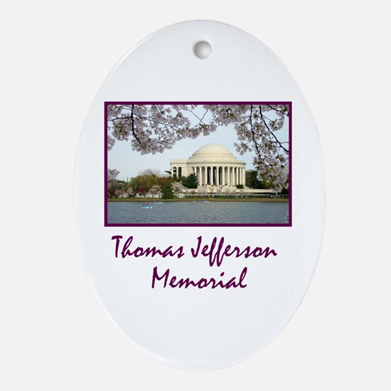 Thomas Jefferson Memorial Ornament (Oval)
