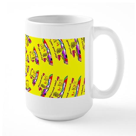Easter Bunny Candy Large Mug