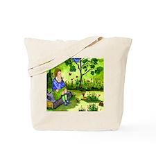 Girl Thinking Tote Bag