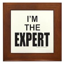 I'M THE EXPERT Framed Tile