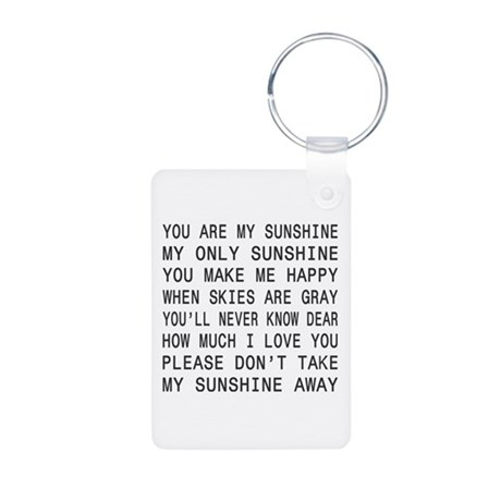 You Are My Sunshine Aluminum Photo Keychain