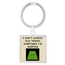 tennis Square Keychain