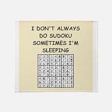 sudoku Throw Blanket