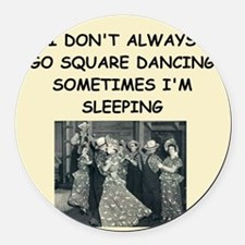 square dancing Round Car Magnet