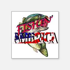 Fishing america Sticker