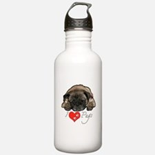 I love pugs Water Bottle