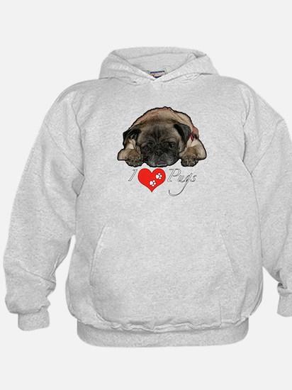 I love pugs Hoodie