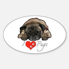 I love pugs Decal