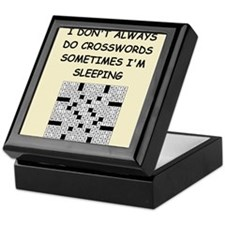 crosswords Keepsake Box