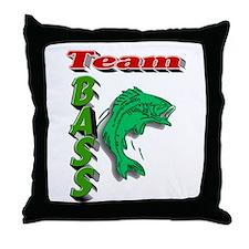 Team Bass Throw Pillow