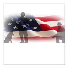 """3 Soldiers Square Car Magnet 3"""" x 3"""""""
