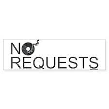No Requests Car Sticker