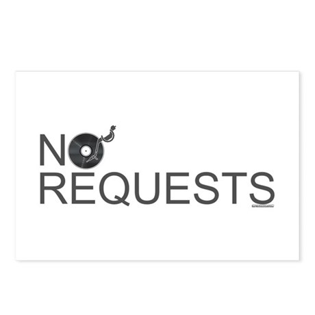 No Requests Postcards (Package of 8)