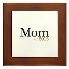 New Mom Est 2013 Framed Tile