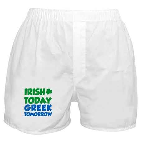 Irish Today Greek Tomorrow Boxer Shorts