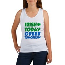 Irish Today Greek Tomorrow Tank Top