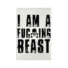 I am a F**king Beast Rectangle Magnet