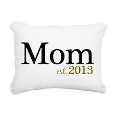 Mom Est 2013 Rectangular Canvas Pillow