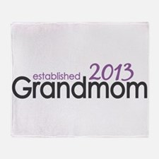 New Grandma Est 2013 Throw Blanket