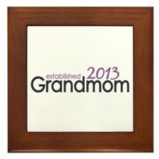 New Grandma Est 2013 Framed Tile
