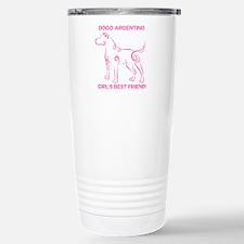 Girl's best friend-dogo argentino Travel Mug