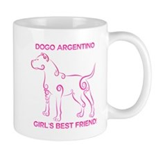 Girl's best friend-dogo argentino Small Mugs