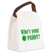 Who's Your Paddy? Canvas Lunch Bag