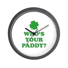 Who's Your Paddy? Wall Clock