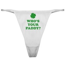 Who's Your Paddy? Classic Thong